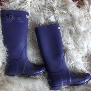 Hunter tall boots iris purple size 6m/7f rare